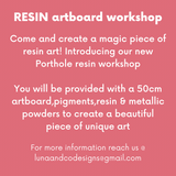Resin Art workshop 3rd April 2021
