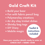 Creative Kids DIY Gold Craft pack