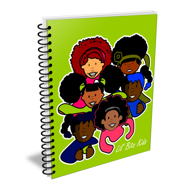 Lil' Bits Kids - Green Girls Notebooks & Sketchbooks