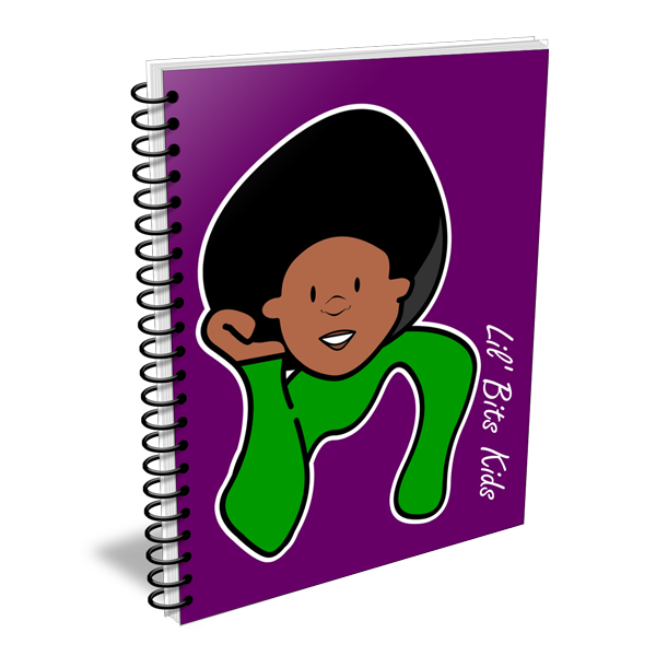 Lil' Bits Kids - Purple I Am Kadeem Notebooks & Sketchbooks