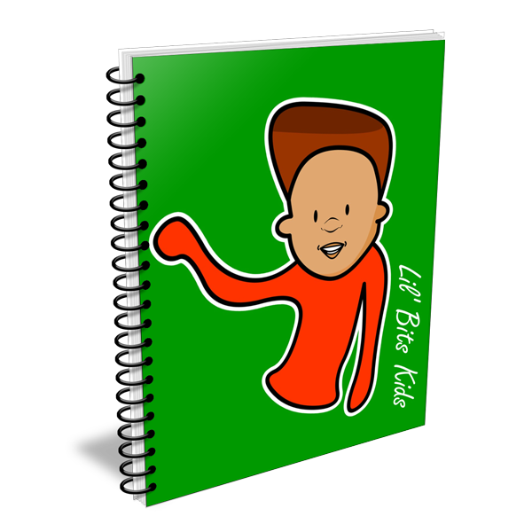 Lil' Bits Kids - Green I Am Eric Notebooks & Sketchbooks
