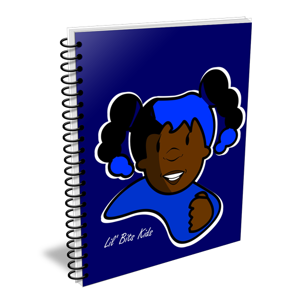 Lil' Bits Kids - Blue I Am Tisha Notebooks & Sketchbooks