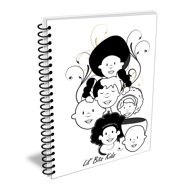 Lil' Bits Kids - Black & White - We Are Here Notebooks & Sketchbooks