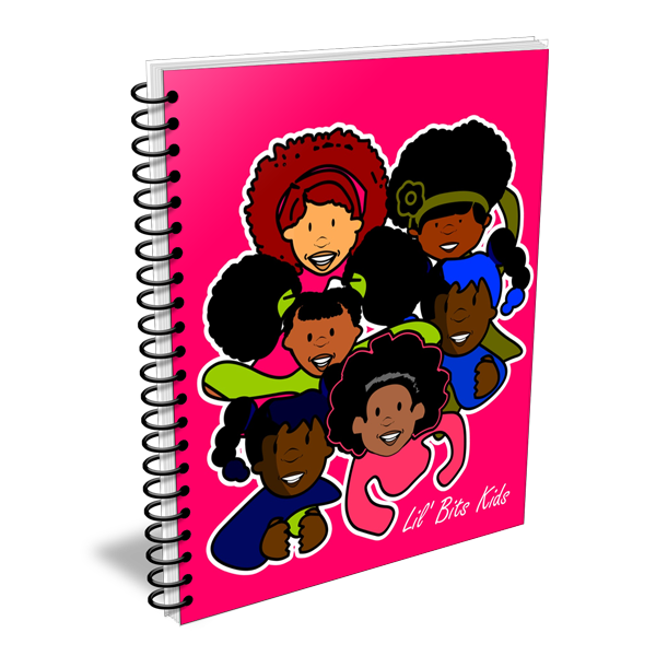Lil' Bits Kids - Pink Pretty Brown Girls Notebooks & Sketchbooks