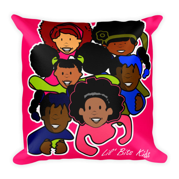 Lil' Bits Kids - Pretty Brown Girls Pillow