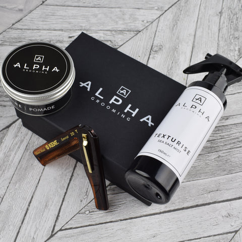 Alpha Grooming Shaving Set - Sandalwood