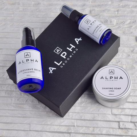 Alpha Grooming Beard Set - Mint & Pepper