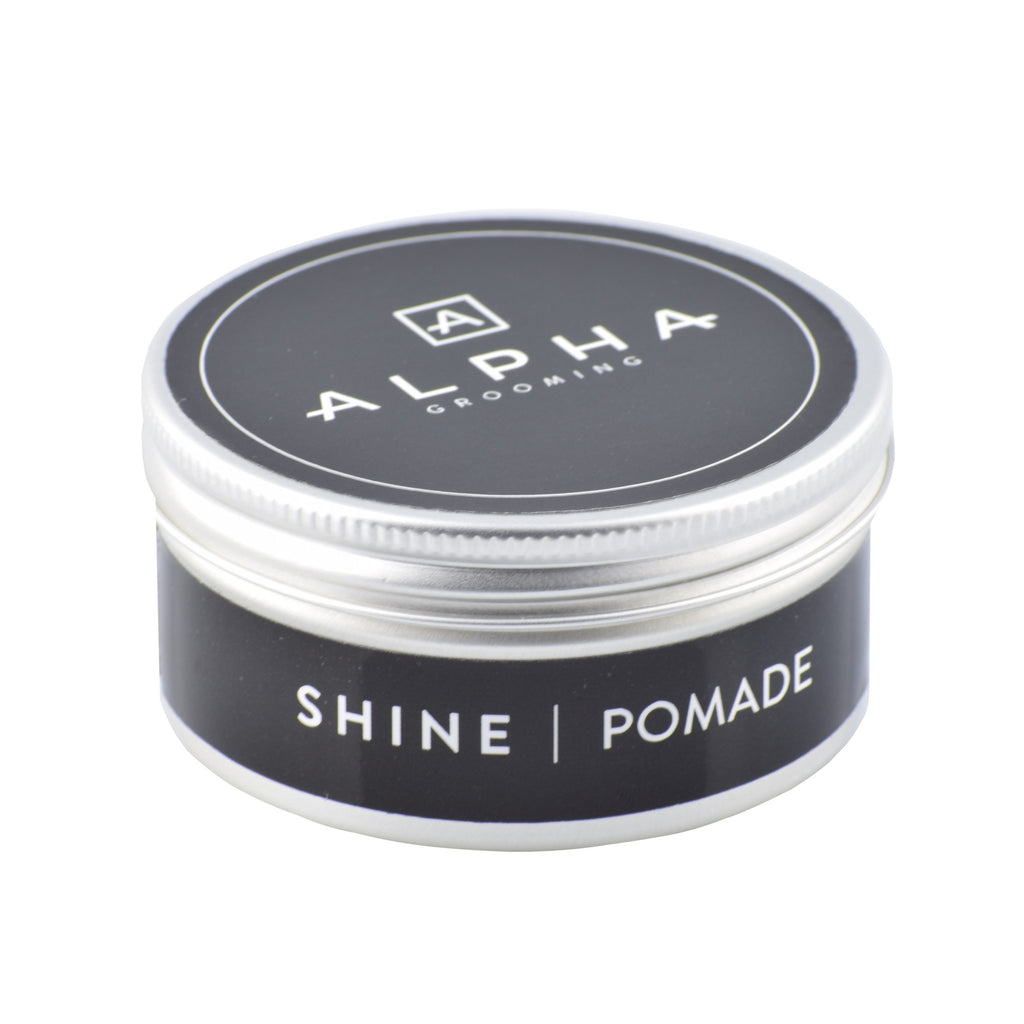 alpha grooming pomade shine male grooming hair product hair products male grooming barber products
