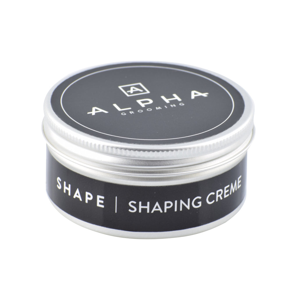 alpha grooming shape shaper shaping cream creme hair product hair products male grooming barber products
