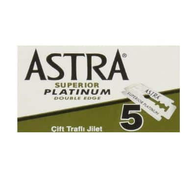 Astra Super Platinum Double Edge Safety Razor Blades - 100 Blades