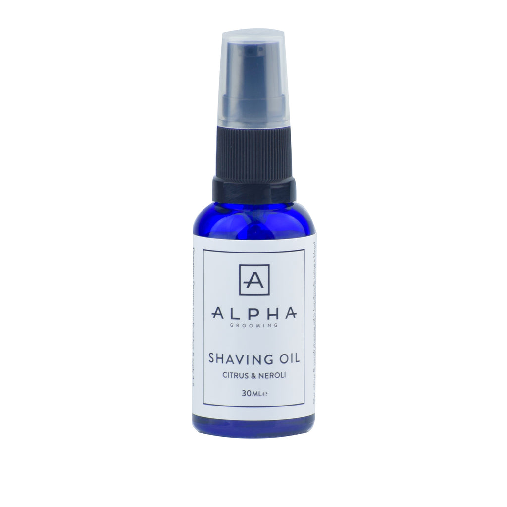 alpha grooming shave shaving oil citrus neroli 30ml product male grooming shaving oil shaving cream aftershave balm mens products shave