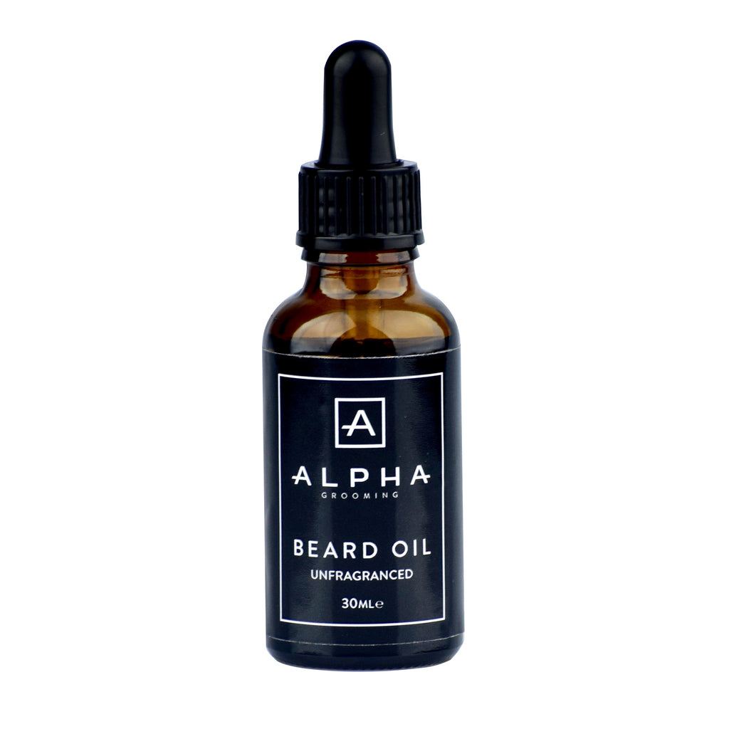 alpha grooming beard oil unfragranced 10ml product beard products beard oil beard balm beard wash male grooming