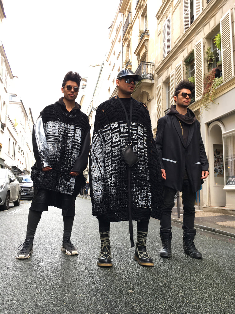 """ONEBYME AW18 COLLISION 05 #SUSTAINACOOL PARIS FASHION WEEK MONSTER JUMPER TAILORED JACKET MONSTER VEST"""