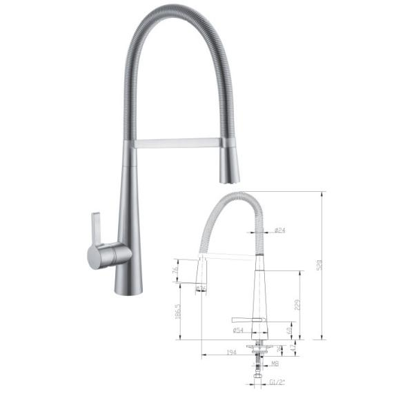 Pull-out Kitchen Sink Mixer - TBAC6101