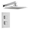 Square Concealed Thermostatic 2 Handle 1 Way Shower Kit (Wall Kit) - TBAC0008