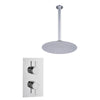 Round Concealed Thermostatic 2 Handle 1 Way Shower Kit (Ceiling Kit) - TBAC0009C