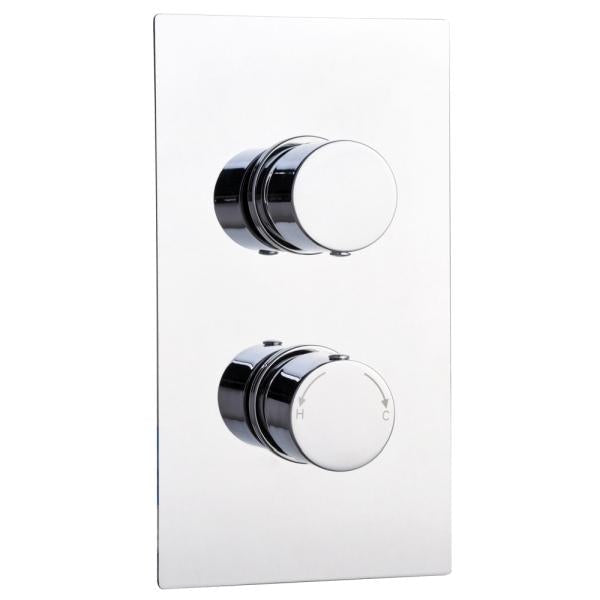 Round Concealed Thermostatic 2 Handle 2 Way Shower Valve - TBAC0025
