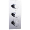 Round Concealed Thermostatic 3 Handle 2 Way Shower Valve - TBAC0028
