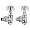 Traditional Crosshead Angled Radiator Valve - TBAC0047