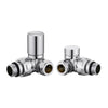 Corner Towel Rail Radiator Valves - TBAC0049