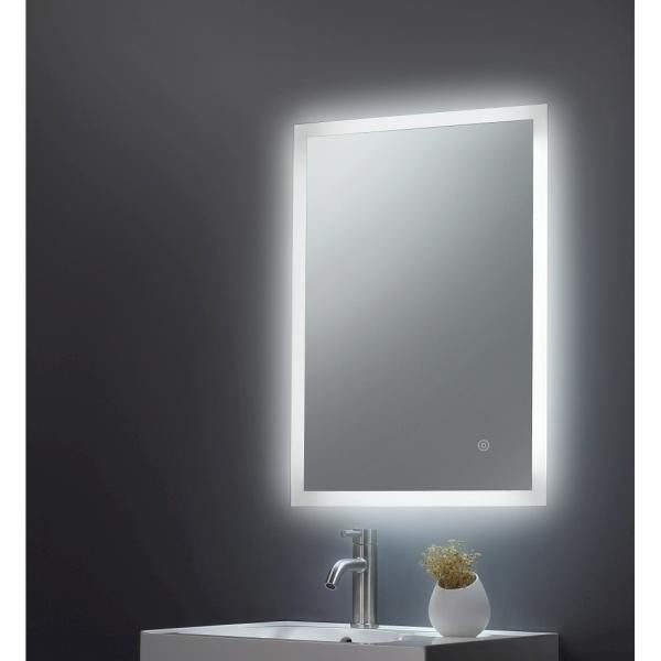 Square Mirror Edge LED 600x800x45mm W/ Demist, Touch - TBAC3018