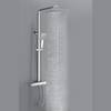 Square Thermostatic Shower Valve with Adjustable Rigid Riser - TBAC10LV