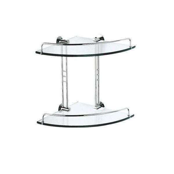 Double Glass Corner Shelf - PSP608