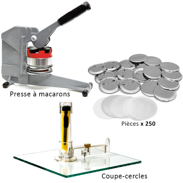Machines à macarons T150 | Button maker kit T150