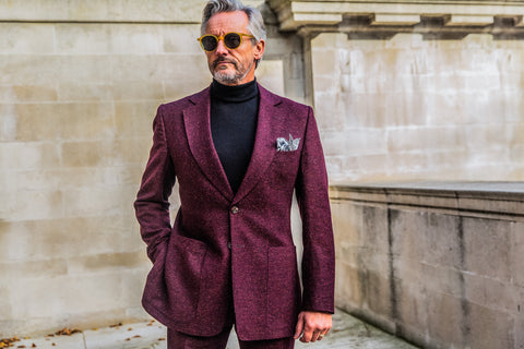 The Benson & Clegg Donegal Suit in berry