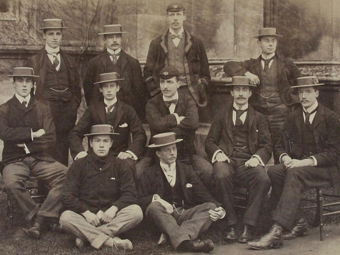 Members of the Lady Margaret Boat Club, the rowing club of St John's College, Cambridge. Circa 1897