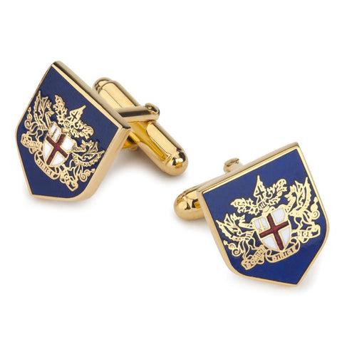 City of London Crest Enamel Shield Cufflinks