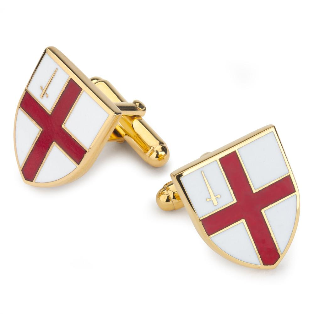 City of London Shield Enamel Cufflinks