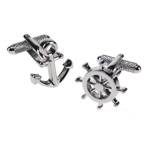 Anchor & Wheel Cufflinks