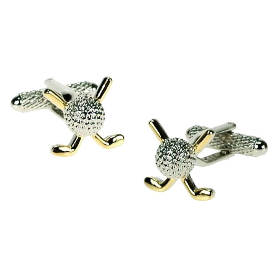 Golf Clubs & Ball Cufflinks
