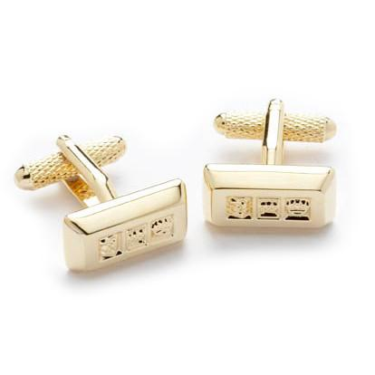 Gold Ingot Cufflinks