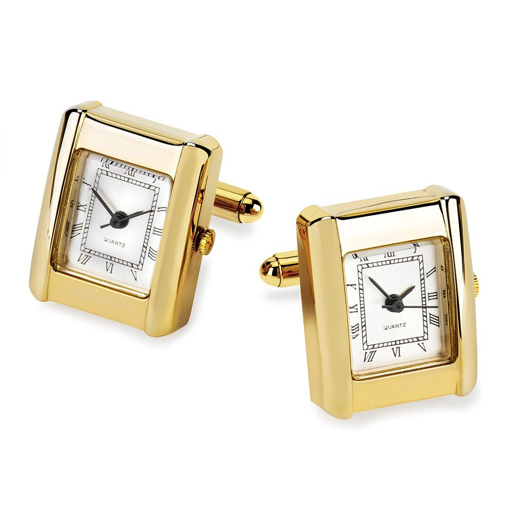 Rectangle Watch Cufflinks (Gold)