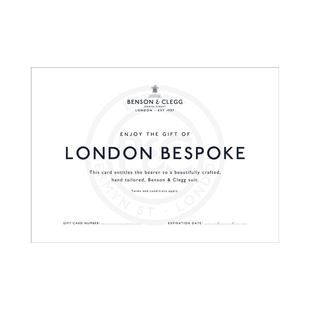 Gift Card For London Bespoke Suit