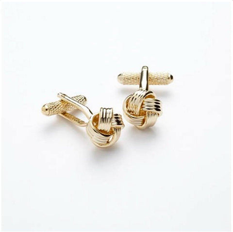 Knot Cufflinks In Gold Cufflinks Not specified