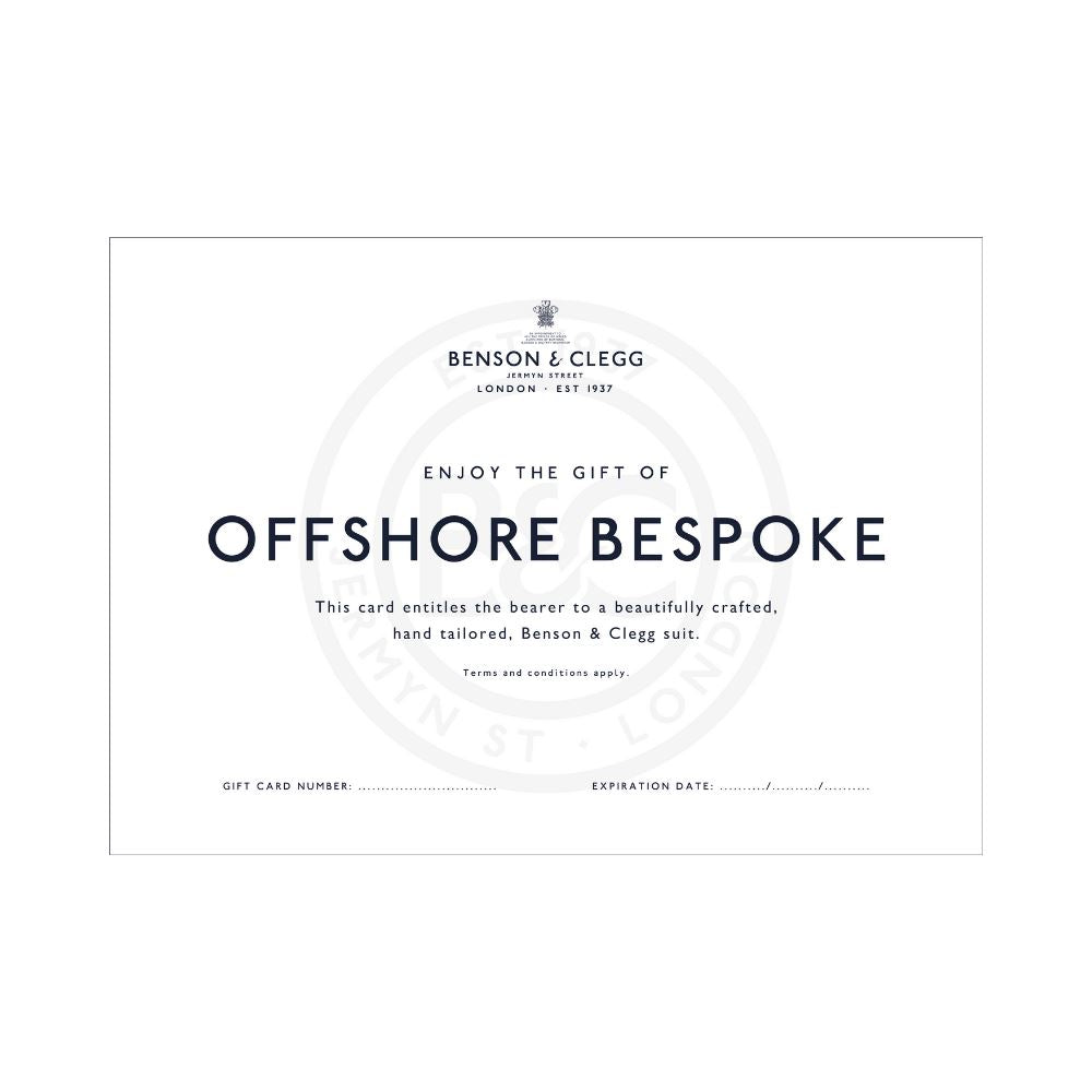 Gift Card For Offshore Bespoke Suit
