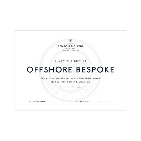 Gift Card For London Bespoke Suit Accessories Not specified