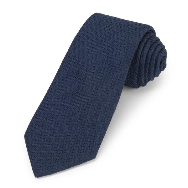 Grenadine (Navy) Silk Tie Neckwear Benson And Clegg