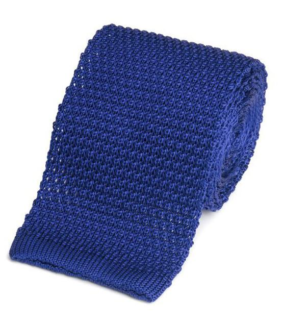 Knitted Silk (Royal Blue) Tie Neckwear Benson And Clegg