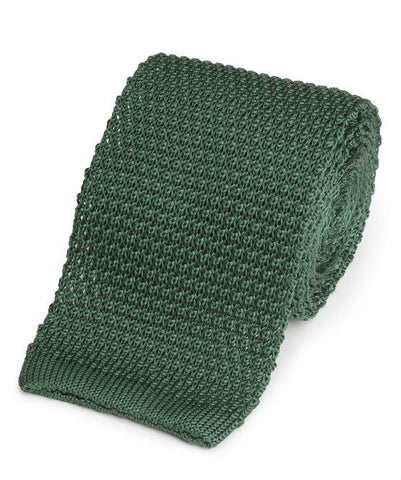Knitted Silk (Racing Green) Tie