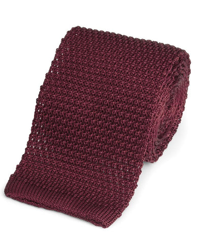 Knitted Silk (Burgundy) Tie