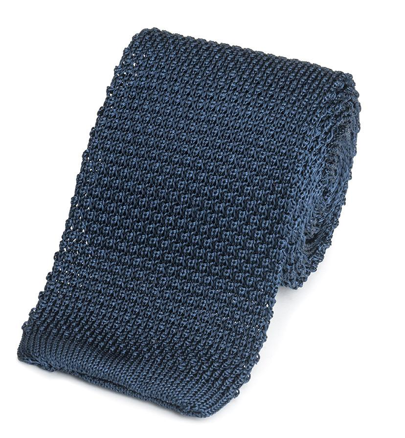 Knitted Silk (Navy) Tie