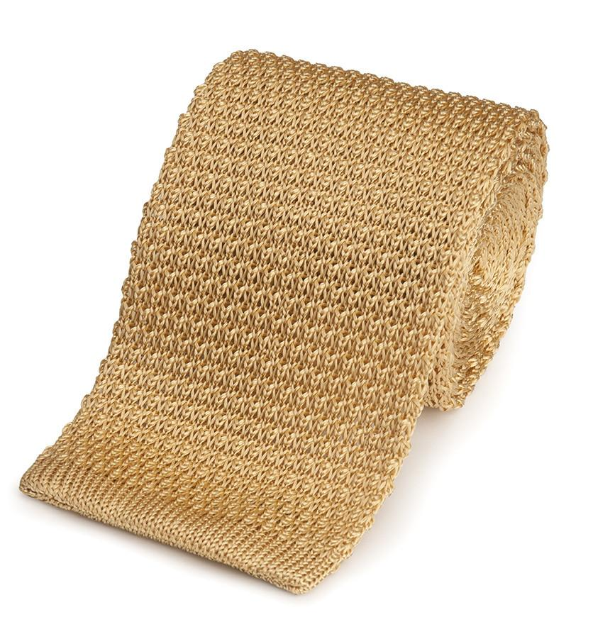 Knitted Silk (Yellow) Tie