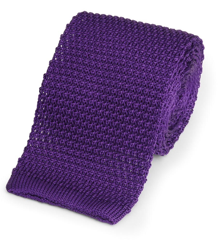 Knitted Silk (Purple) Tie Neckwear Benson And Clegg