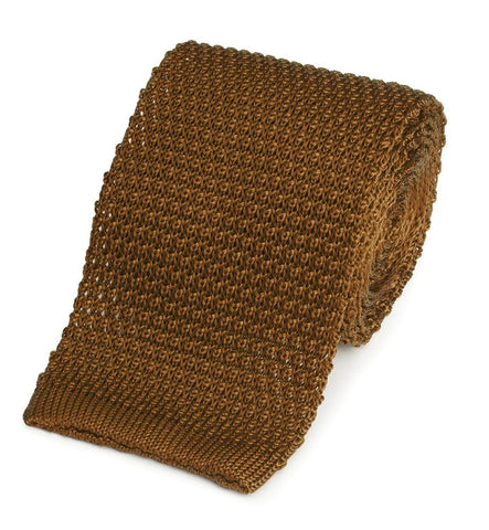 Knitted Silk (Burnt Orange) Tie