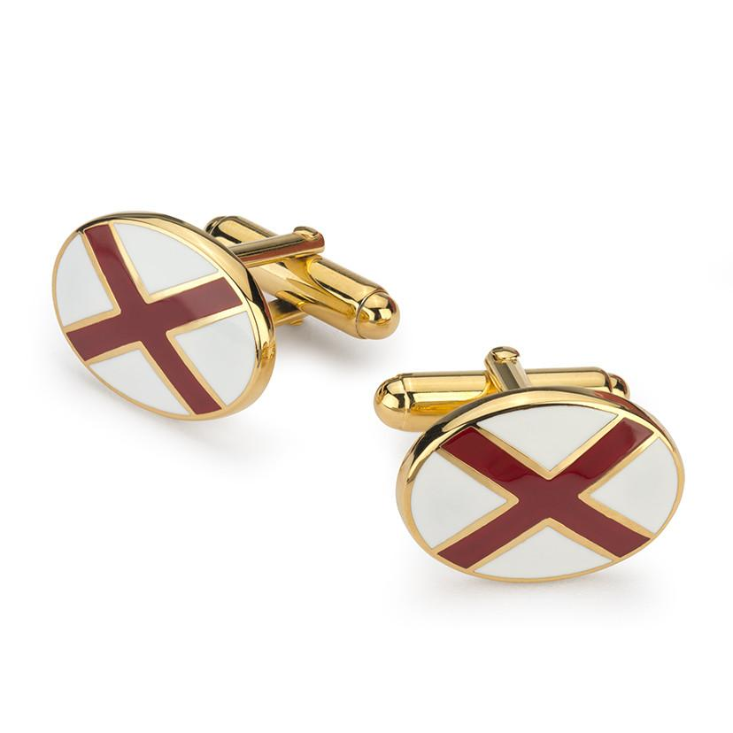 St Patricks Cross Enamel T-Bar Cufflinks