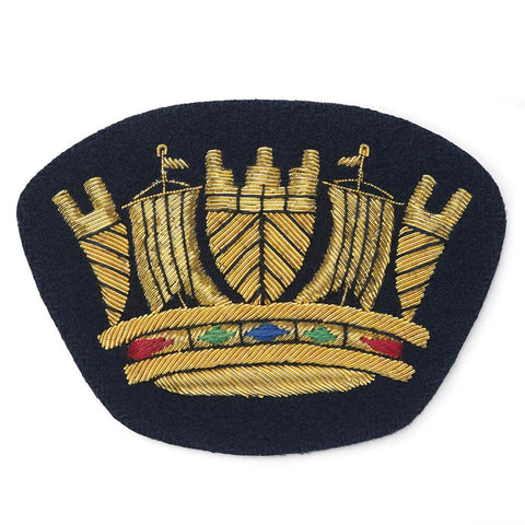 Royal Naval Coronet Blazer Badge